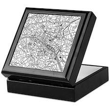 Vintage Map of Paris France (1911) Keepsake Box