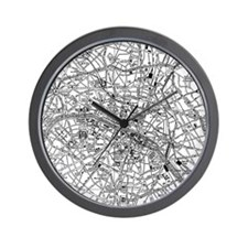 Vintage Map of Paris France (1911) Wall Clock