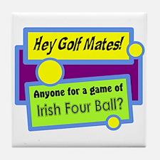 Irish Four Ball Golf Tile Coaster