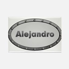 Alejandro Metal Oval Magnets
