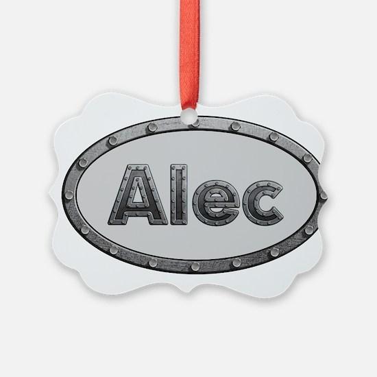 Alec Metal Oval Ornament