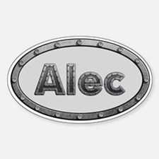 Alec Metal Oval Decal