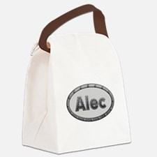 Alec Metal Oval Canvas Lunch Bag