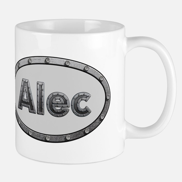 Alec Metal Oval Mugs