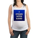 I Stand With Rand Maternity Tank Top