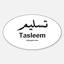 Tasleem Arabic Calligraphy Oval Decal