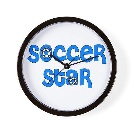 Blue Soccer Wall Clock