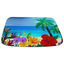 Tropical Beach Bathmat