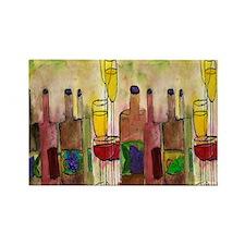 Tuscany Wine Art Rectangle Magnet