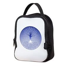 Winter Blue Neoprene Neoprene Lunch Bag