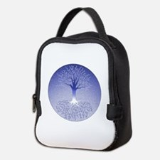 Winter Blue Neoprene Neoprene Lunch Bag