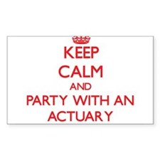 Keep Calm and Party With an Actuary Decal