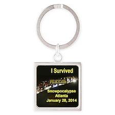 I Survived Atlantas Snowpocalypse Keychains