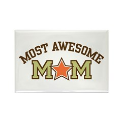 Most Awesome Mom Rectangle Magnet