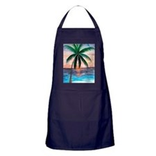 Sunset Palm Tree Apron (dark)