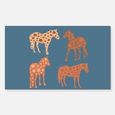 Four flower horses Decal