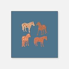 Four flower horses Sticker