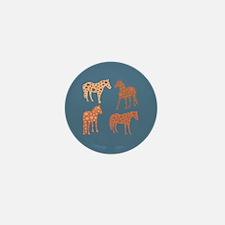 Four flower horses Mini Button (100 pack)
