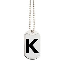Letter K Black Dog Tags