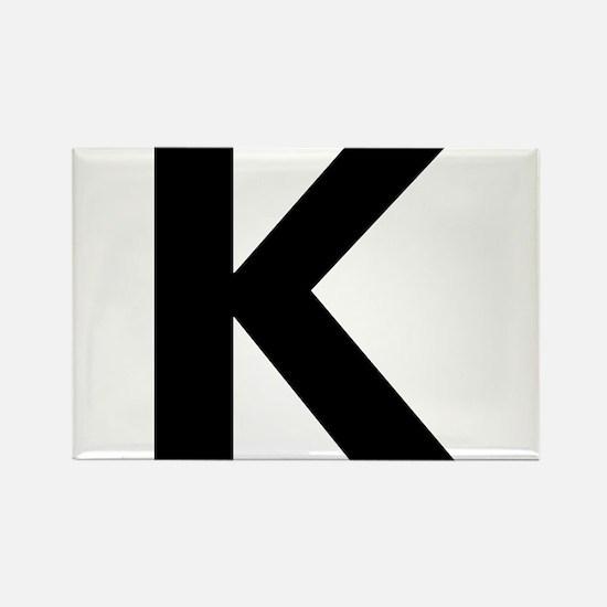 Letter K Black Magnets