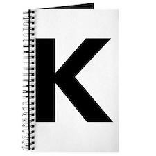 Letter K Black Journal