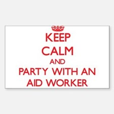Keep Calm and Party With an Aid Worker Decal