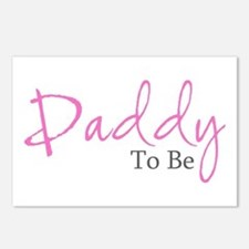 Daddy To Be (Pink Script) Postcards (Package of 8)