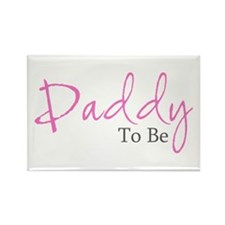 Daddy To Be (Pink Script) Rectangle Magnet