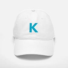 Letter K Blue Baseball Baseball Baseball Cap