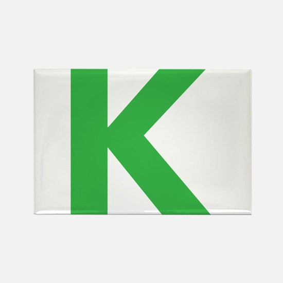Letter K Green Magnets