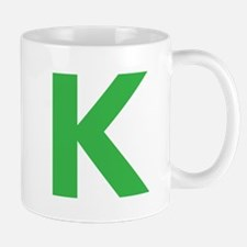 Letter K Green Mugs