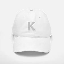 Letter K Light Gray Baseball Baseball Baseball Cap