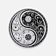 """Yen Yang Art Design  3.5"""" Button"""