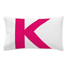 Letter K Pink Pillow Case