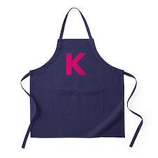 Letter K Pink Apron (dark)