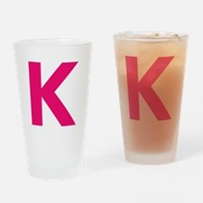 Letter K Pink Drinking Glass