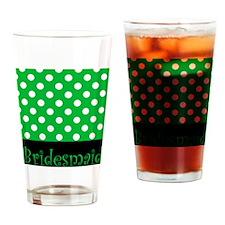 POLKA DOTS BRIDESMAID GREEN Drinking Glass