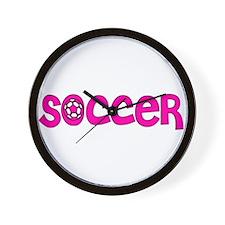 Girls Soccer Wall Clock