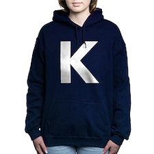 Letter K White Hooded Sweatshirt