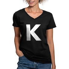 Letter K White T-Shirt