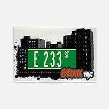E 233 St, Bronx, NYC Rectangle Magnet