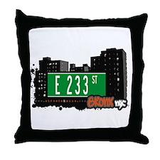 E 233 St, Bronx, NYC Throw Pillow