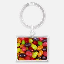Colored Jelly Beans Landscape Keychain