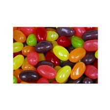 Colored Jelly Beans Rectangle Magnet