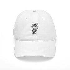 Oriental Skull Tattoo Baseball Cap