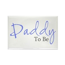 Daddy To Be (Blue Script) Rectangle Magnet (10 pac