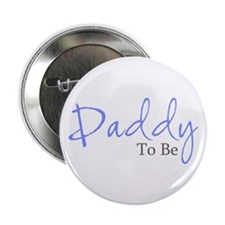 """Daddy To Be (Blue Script) 2.25"""" Button (10 pack)"""