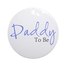Daddy To Be (Blue Script) Ornament (Round)