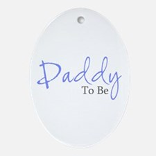Daddy To Be (Blue Script) Oval Ornament