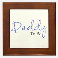 Daddy To Be (Blue Script) Framed Tile